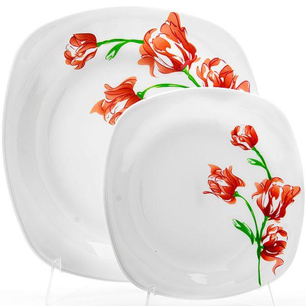 Набор тарелок 7 пр стелко-керамика Sterlingg LR (х6) 23690