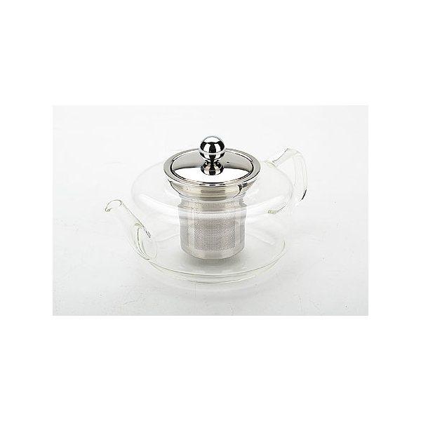 Заварник стекл 0,45л с мет/сито/кр (х24)