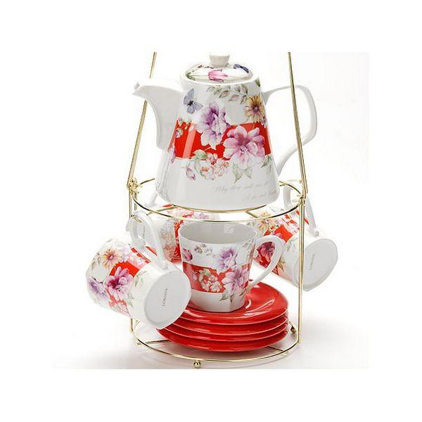 Чайный набор 9пр 1,1л на мет/подст Sterlingg МВ (х6) 24732