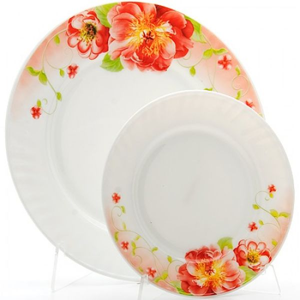 Набор тарелок 7пр стелко-керамика Sterlingg LR (х6) 23686