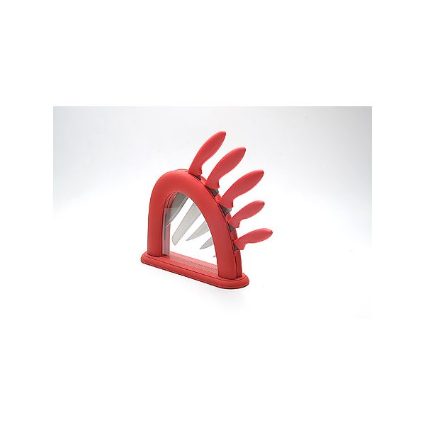 Набор ножей сил/руч + подставка МВ (х6) 22541