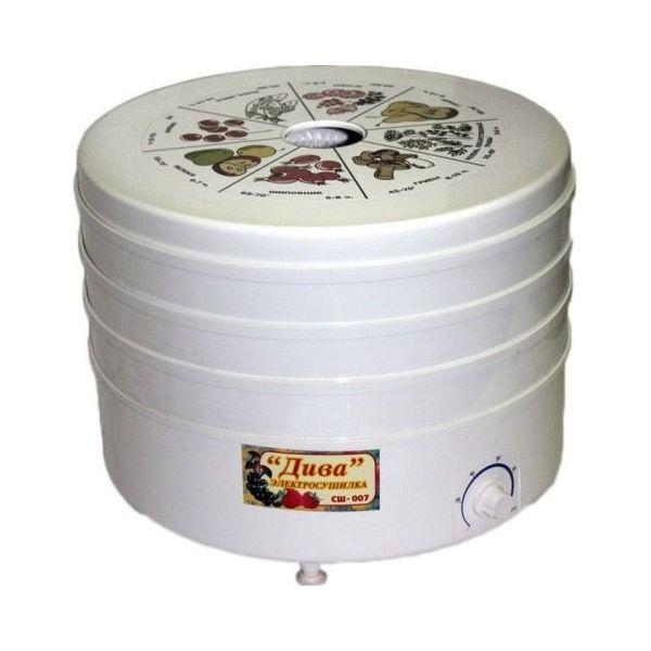 Сушилка для овощей и фруктов Ротор Дива СШ-007-04