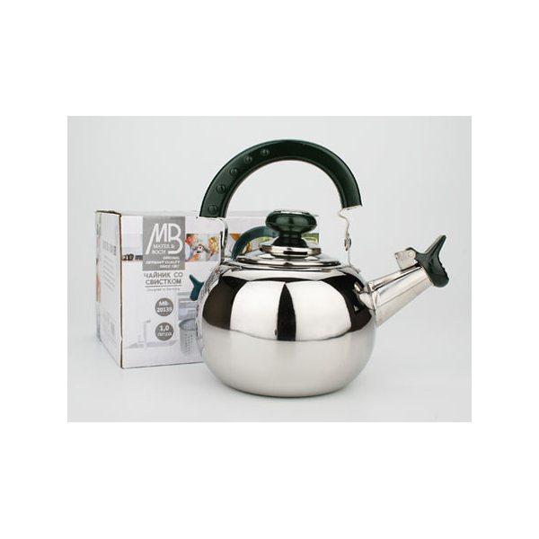 Заварочный чайник мет/сфер MB (1,0л) пл/руч 20139