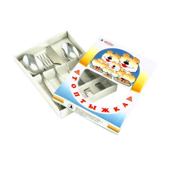 Детский набор столовых приборов Амет Топтыжка Детский