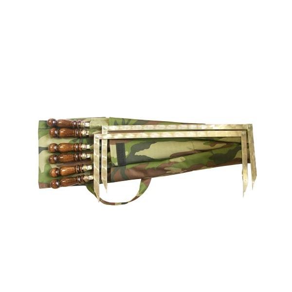 Набор шампуров с деревянной ручкой ИНВЕНТ ГРУПП 400х12х3.0 мм
